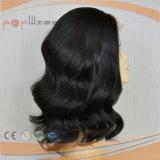 La parte superior de la seda de alta gama estilo ondulado mujer peluca (PPG-L-0776)