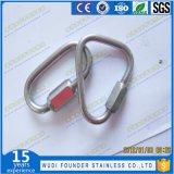 Type de long en acier inoxydable en forme de poire anneau Lien rapide