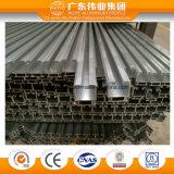 Profil en aluminium extrudé OEM de matériau de construction de vitre de porte