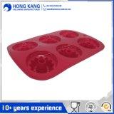 Heiße verkaufen6 Kammer-Silikon-Kuchen-Form für das Kochen des Tellersegmentes