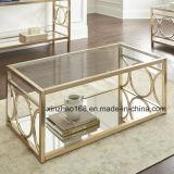 Tavolino da salotto di vetro Xz-014 del metallo di immaginazione di stile del diamante