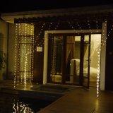 De openlucht van het LEIDENE van Ce RoHS van de Kabel van het Gebruik Waterdichte Duidelijke Lichten van de Waterval Gordijn van Kerstmis