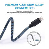 Blitz-Kabel umsponnener NYLONUSB a zum Blitz-kompatiblen Kabel für iPhone X/8/8 Plus/7/7 Plus/6/6 Plus-/5s und mehr