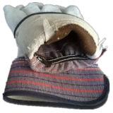 牛そぎ皮のやし縞の綿背部手袋