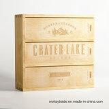 Personifizierter hölzerner Wein-Kasten für Hochzeit verbindet hölzernen Jahrestags-Geschenk-Kasten für Flasche 750ml
