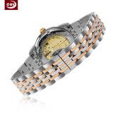 10mm hohe exakte Dame-Edelstahl-Handgelenk-Quarz-Uhr