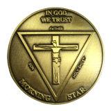 3DロゴのRiligionのフリーメーソンの金属の挑戦硬貨