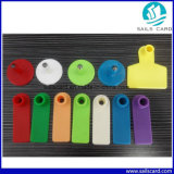 Oranje Eartag van de Schapen van de Markering van het Oor van het Vee van de Kleur Dierlijke met Serienummers