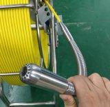 カメラ60メートルのガラス繊維の押し棒ケーブルの下水管の下水管の点検