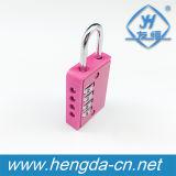 Fechamento cor-de-rosa do código do número do cadeado da combinação da roda do presente 4 do Natal Yh9064