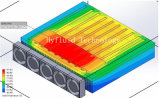 RF/MW 400X400X60mm 의 다른 탄미익 조밀도 단면도를 위한 IGBT 열 싱크