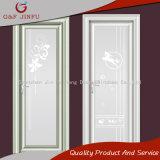 Perfil de aluminio recubierto de alimentación doble vidrio Casement puerta para el cuarto de baño