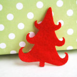 クリスマスはフェルトの製品のフェルトの球のフェルトの装飾を印刷した
