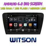 "Witson gran pantalla de 10,2"" de Android 6.0 alquiler de DVD para Volkswagen Skoda Octavia 2014"