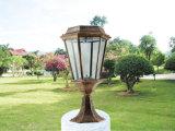 Lampada solare della colonna dell'indicatore luminoso solare esterno del giardino