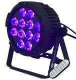 Nuevo Rodie ninguna IGUALDAD sin hilos LED de la luz ULTRAVIOLETA LED de la IGUALDAD del ventilador 12PCS 18W 6in1 Rgbaw puede con PAR64 teledirigido