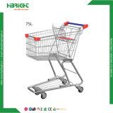 4 Rad-Metallsupermarkt-Einkaufen-Laufkatze für Verkauf