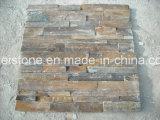 Azulejos de piedra empilados para el revestimiento de la pared