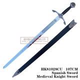 As espadas medievais da decoração das espadas das espadas das cruzadas 107cm HK81028cu