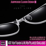 Les hommes neufs d'Al-Magnésium de la mode A001 ont polarisé des lunettes de soleil