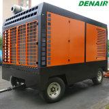 15 bars 848cfm Mobile air rotatifs à vis du compresseur sur deux ou quatre roues