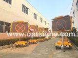 Optraffic ODM 호박색 5 색깔 교통 안전 원격 제어 이동할 수 있는 태양 강화된 LED Webvms 표시, LED 메시지 표시