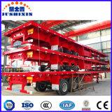 Utilidad de cama plana Tri-Axles semi-remolques para transporte de contenedores