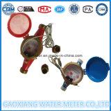 Mètre intelligent d'activité de l'eau Multi-Gicleur bleu/rouge de corps en laiton avec le pouls