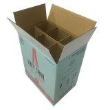 Le support de bourrage en gros de vin de paquet de six de papier ondulé enferme dans une boîte Fp600113