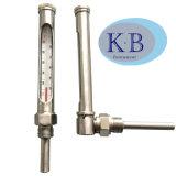 Termometro del tubo di vetro della cassa del metallo di industria