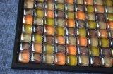 ハンドメイドの容易なデザインオレンジカラー浴室のガラスモザイク・タイル