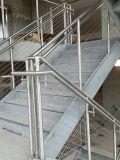 Barandilla y guarniciones exteriores de la escalera de Rvs del acero inoxidable