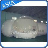 キャンプのための2つのトンネルが付いている半分の透過膨脹可能な泡テント