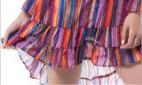 Neue Ankunfts-Sommer bunte WegSchulter reizvolles Dame-Kleid