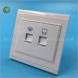 PC Prive anticoncorrenciais & Tel Soquete da Tomada de ouro do soquete da tomada de parede de aço tomada eléctrica da tomada de PC da tomada de telefone