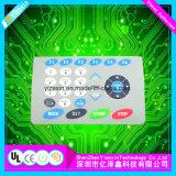 PC/PVC hoher Glanz-grafischer Testblatt-Membranschalter mit freiem Fenster