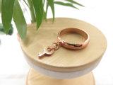 Anéis bonitos simples do pendente chave de bronze Eco-Friendly do ouro da jóia 24K Rosa