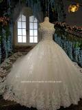 Desligar uma linha Aolanes ver através do ombro vestido de casamento