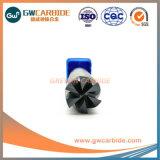 HRC45/50/60 laminatoi di estremità solidi delle scanalature del carburo 2/3/4