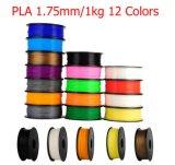 De Milieuvriendelijke 1.75mm 3D Gloeidraad van de Printer PLA met multi-Kleuren 1kg