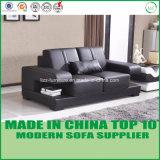 Sofá de madeira secional de couro ajustado da mobília moderna da sala de visitas