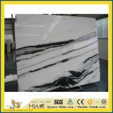 台所のための自然な磨かれたパンダの白い石造りの大理石か浴室または壁またはフロアーリングまたはステップまたはタイルまたはクラッディング