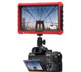 7 IPS 4K HDMI van de duim op-cameraMonitor met Rood RubberGeval