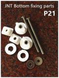 La parte inferior de piezas de fijación para asiento del inodoro