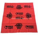 El producto de la fábrica de China modificó el pañuelo grande impreso insignia del pañuelo para requisitos particulares del algodón del rojo los 50*50cm