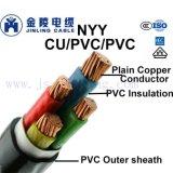 Nyy 0.6/1kv de baja tensión aislados con PVC, Cable de alimentación a IEC 60520-1