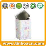 Олово хранения металла чая кофеего Suger с воздухонепроницаемой внутренней крышкой