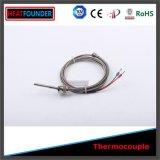 Type de fibre de verre thermocouple de J avec le fil de prolonge