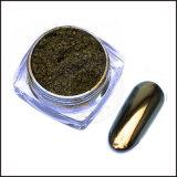 88421 Gold/grüner Chamäleon-Chrom-Spiegel-Nagel, Farben-änderndes Pigment