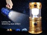 2018 Nuevo Camping de la luz solar linterna LED linterna portátil para el turista